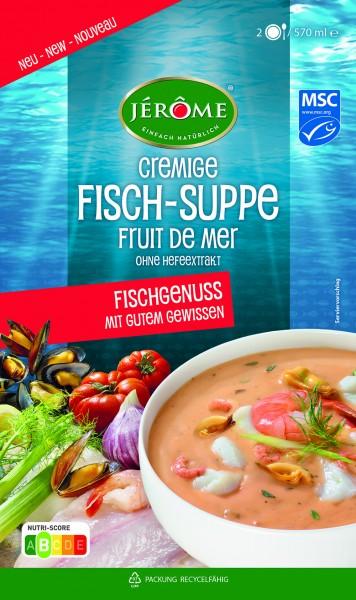 JÉRÔME cremige MSC-Fischsuppe 'fruit de mer' mit fleur de sel - ohne Hefeextrakt