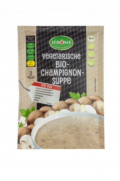 Jérôme vegetarische Bio-Champignon-Suppe, Fix