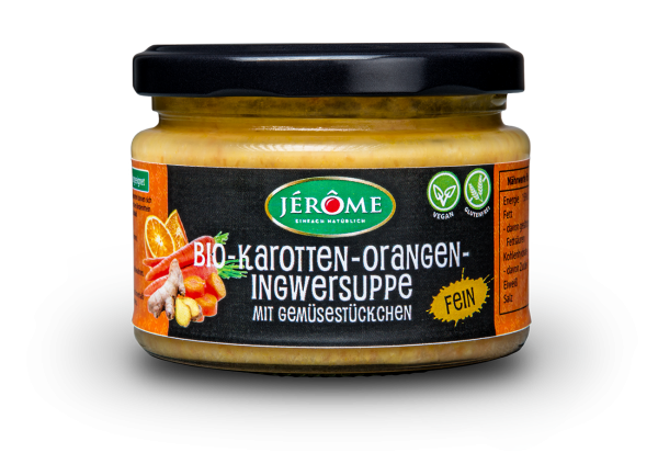 JÉRÔME Bio-Karotte-Orange-Ingwersuppe, Single
